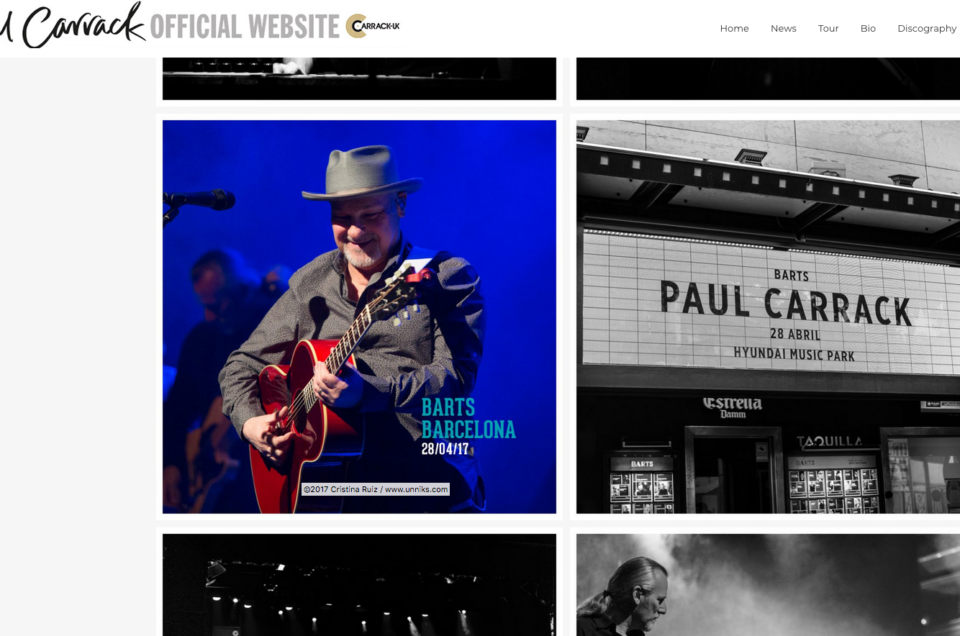 Paul Carrack Official Website